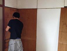 長岡京市の中古マンションリノベーション。リフォーム中の和室の押入れ。