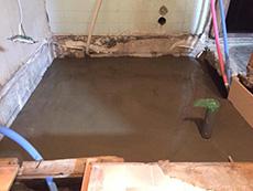 長岡京市のお風呂浴室リフォーム。基礎が乾くのを待っているところです。
