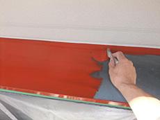 長岡京市の外壁屋根塗装リフォーム。板金部分はすべて錆止め塗料を下塗りします。