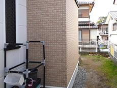 お風呂浴室リフォーム。完成した浴室外の外壁です。