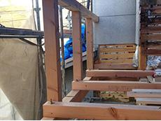 長岡京市の外壁塗装とバルコニー増築リフォーム。