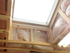 西京区のキッチン増築リフォーム。増築部分に断熱材をしっかり入れます。