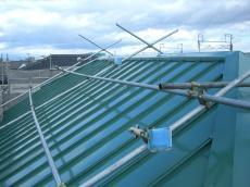 大山崎町で外壁屋根塗装リフォーム。3回目の遮熱塗装仕上げをして、完成です。