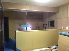 大山崎町のリビングリノベーション。キッチンの場所が変わり、カウンターのオープンキッチンになりました。