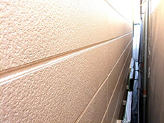 長岡京市の外壁屋根塗装リフォーム。塗料の色はアステックペイント社 シリコンフレックス 9008番アプリコット。