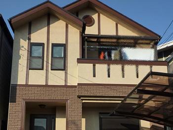 長岡京市の屋根外壁塗装リフォーム。完成後の外観です。とても美しい仕上がりです。