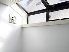 お風呂浴室リフォーム。天窓が付いたバスルームでした。