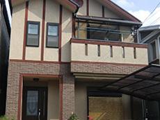 長岡京市の屋根外壁塗装リフォーム。築10年のお住まいです。