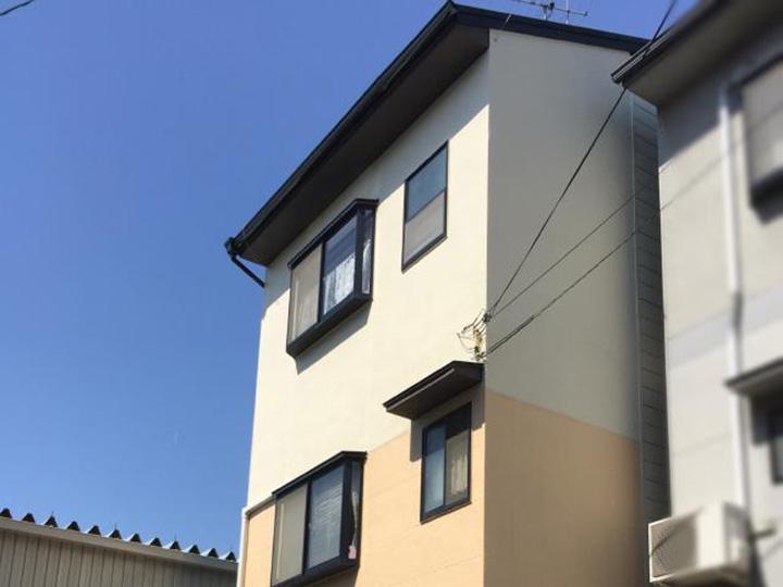 西京区 K様邸 外壁ひび割れ・屋根塗装リフォーム事例