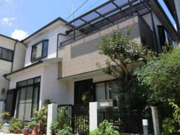 長岡京市 H様邸 外壁塗装・バルコニー増築リフォーム施工事例