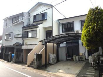 大山崎町 3軒並び 外壁塗装リフォーム施工事例