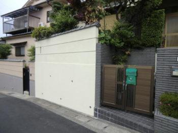 T様邸 塀・ガレージ塗装リフォーム施工事例