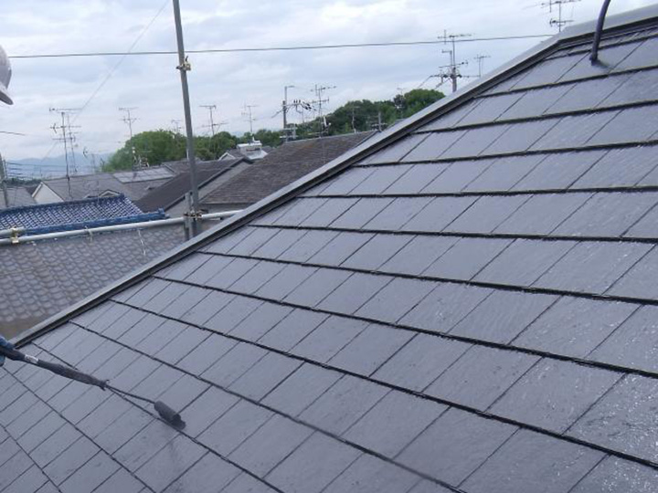 長岡京市 N様邸 屋根塗装リフォーム施工事例