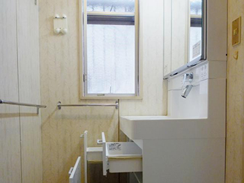 西京区 H様邸洗面化粧台取替えリフォーム事例