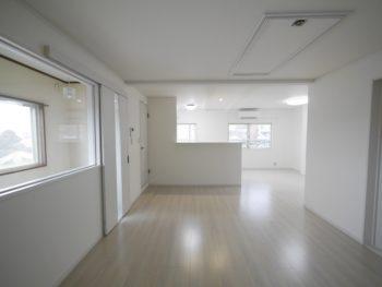 長岡京市の二世帯住宅リフォーム。リフォーム後のLDKです。