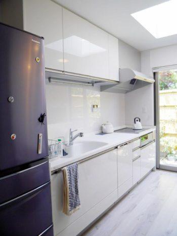西京区のキッチン増築リフォーム。180cm増築したキッチンです。